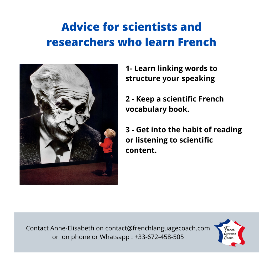 advice for researchers learning French