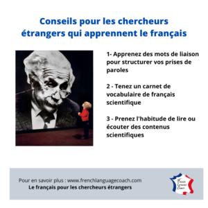 conseils chercheurs étrangjers langue française